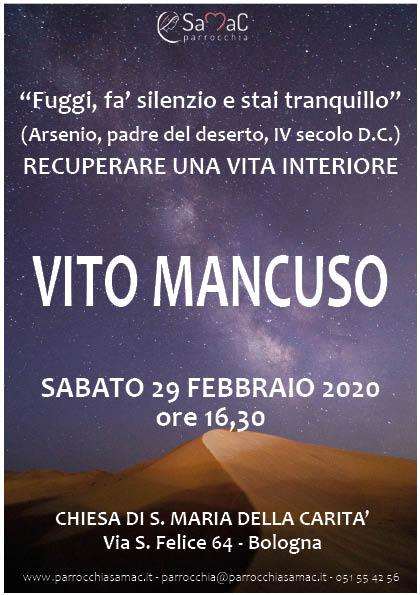 Vito Mancuso 29 febbraio
